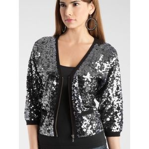 [GUESS] Black Sequin Splendor Cardigan